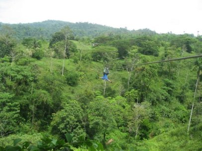 my upside down zip line ride in costa rica